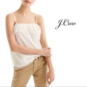 J Crew | Fluttery Lace Cami in Ivory L